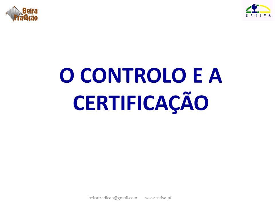 o controlo e a certificação