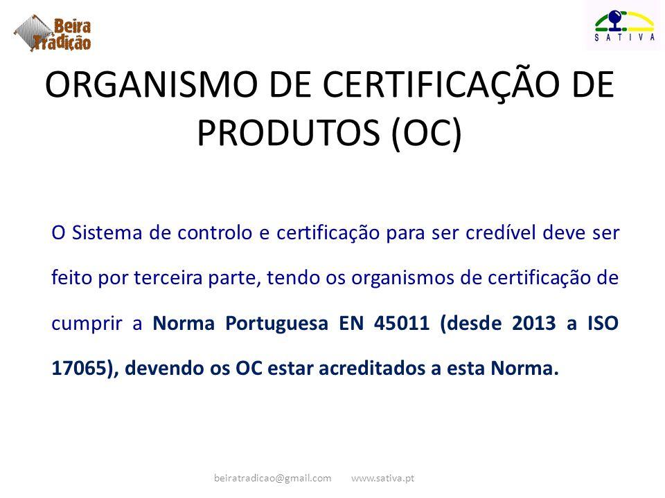 ORGANISMO DE CERTIFICAÇÃO DE PRODUTOS (OC)