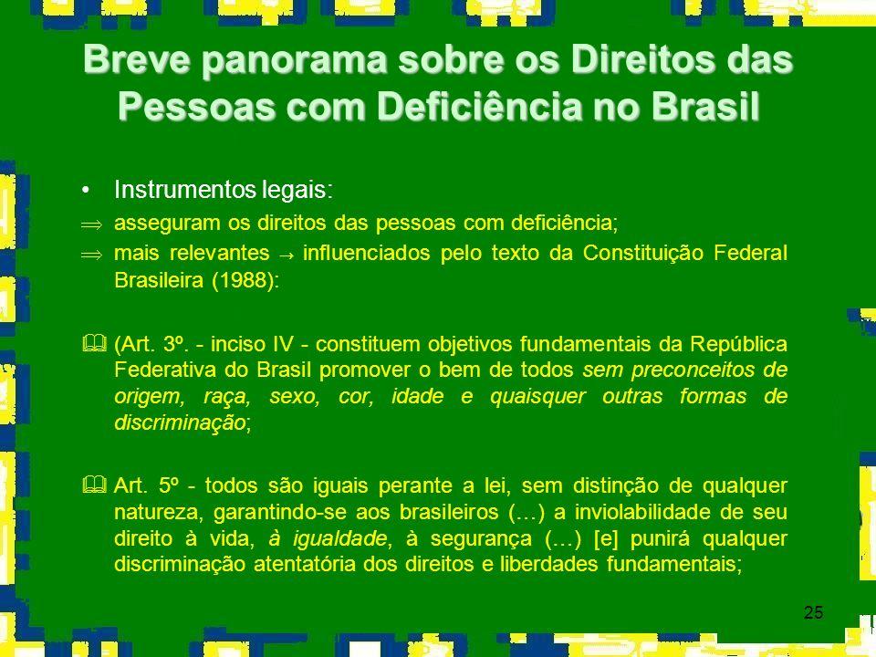 Breve panorama sobre os Direitos das Pessoas com Deficiência no Brasil