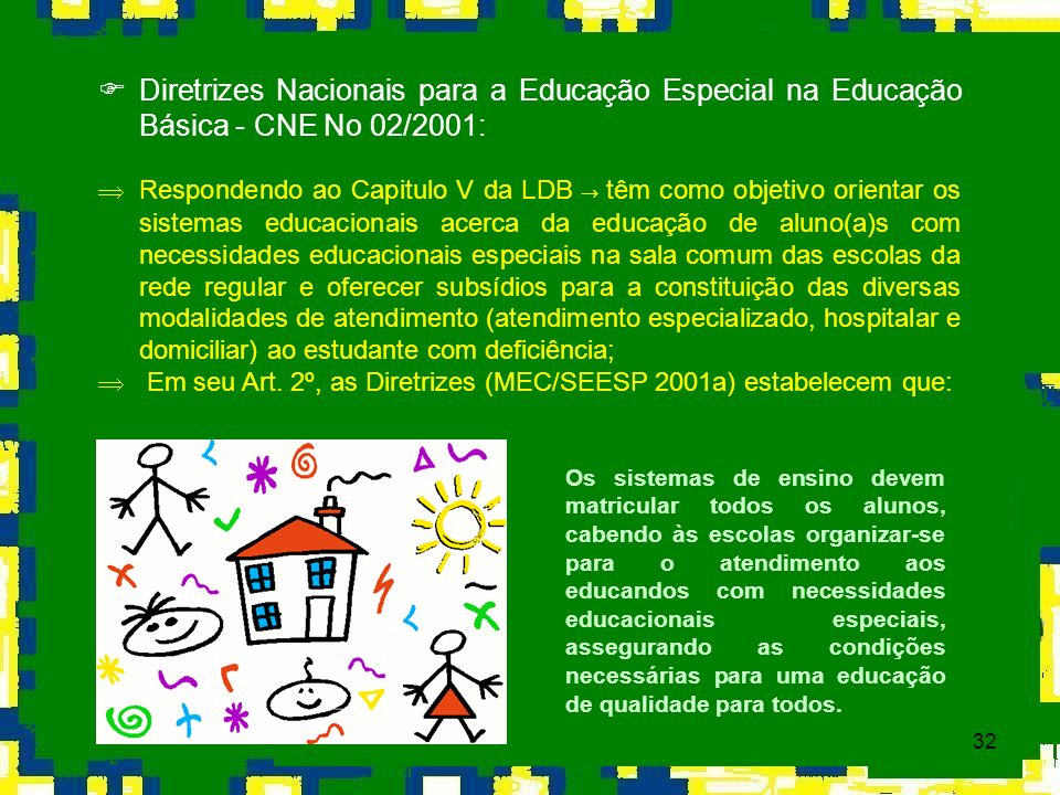 Diretrizes Nacionais para a Educação Especial na Educação Básica - CNE No 02/2001: