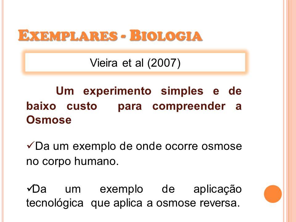 Exemplares - Biologia Vieira et al (2007)