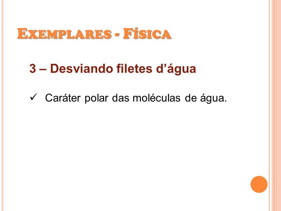 Exemplares - Física 3 – Desviando filetes d'água