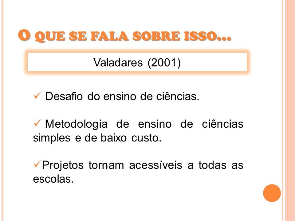 O que se fala sobre isso... Valadares (2001)