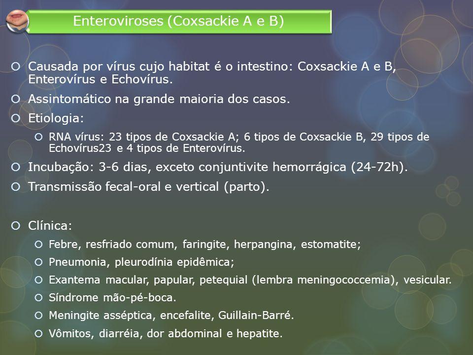 Enteroviroses (Coxsackie A e B)