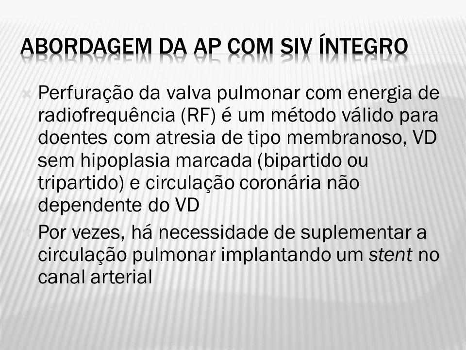 Abordagem da AP com SIV íntegro