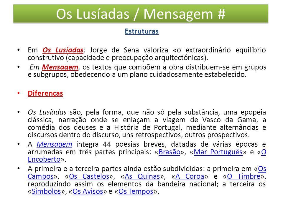 Os Lusíadas / Mensagem #