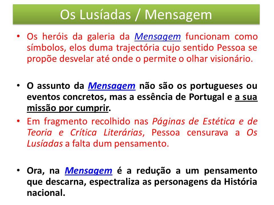Os Lusíadas / Mensagem