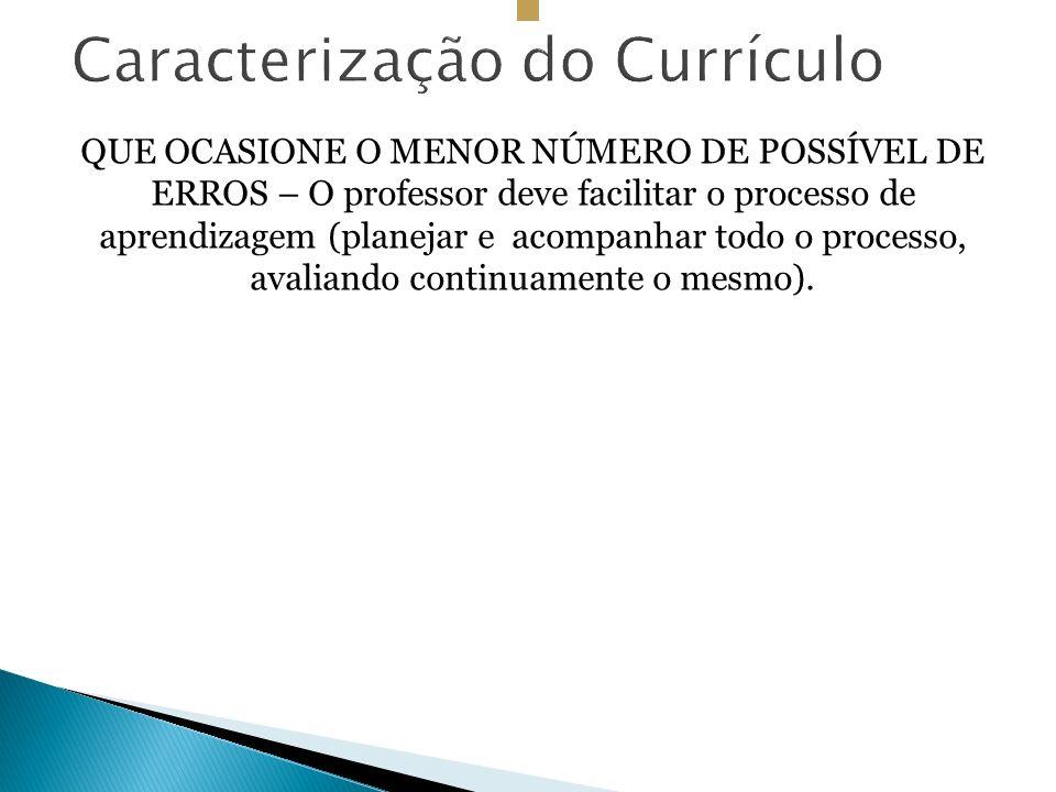 Caracterização do Currículo