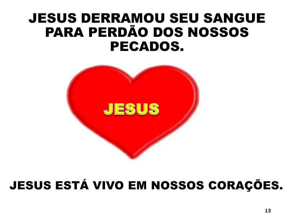 JESUS DERRAMOU SEU SANGUE PARA PERDÃO DOS NOSSOS PECADOS.
