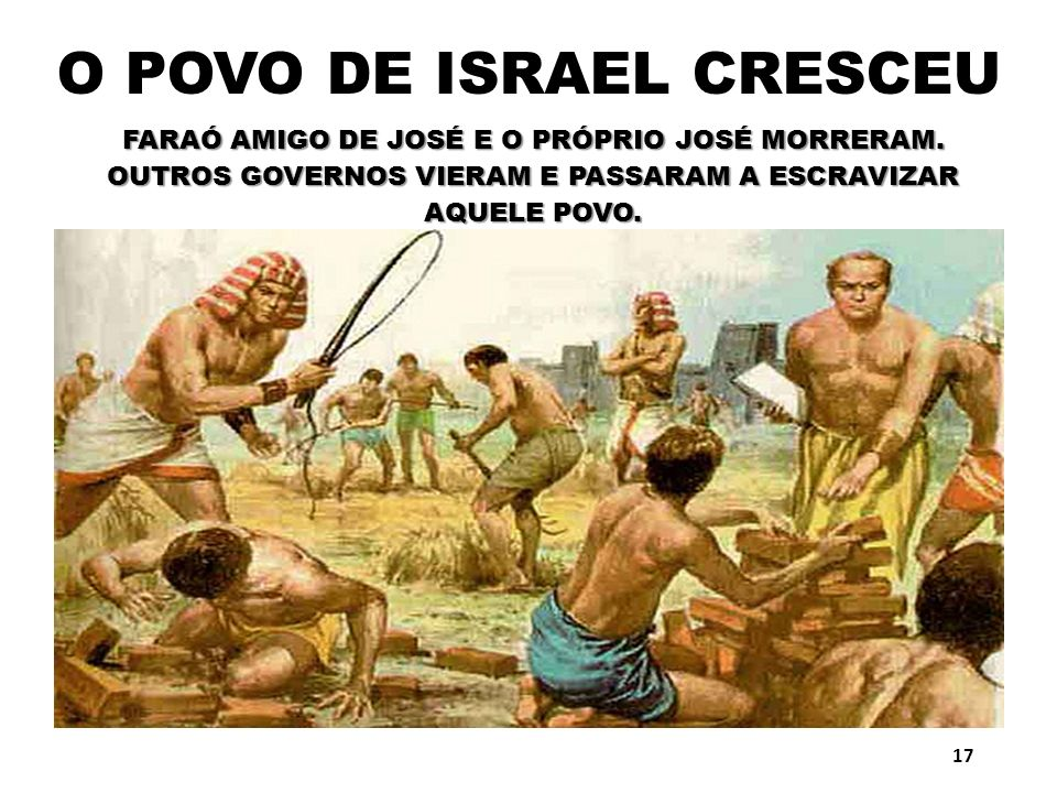 O POVO DE ISRAEL CRESCEU