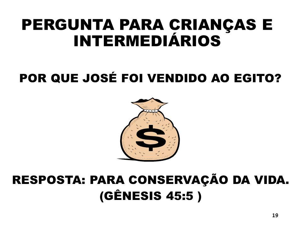 PERGUNTA PARA CRIANÇAS E INTERMEDIÁRIOS