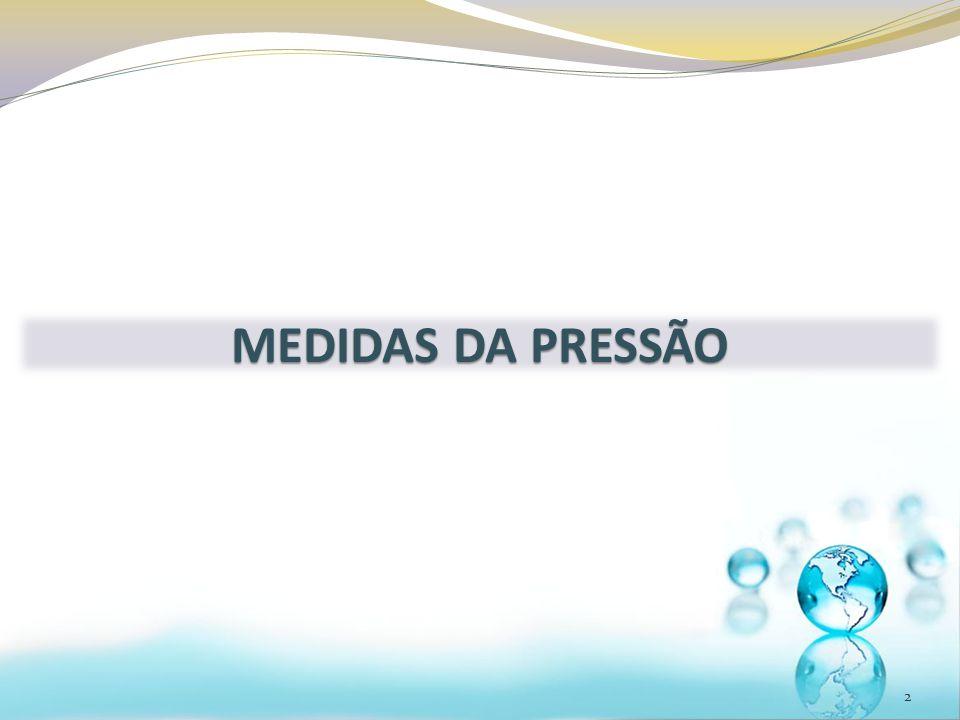 MEDIDAS DA PRESSÃO