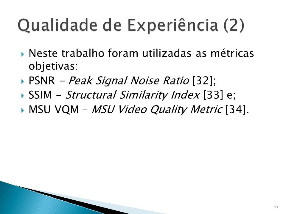 Qualidade de Experiência (2)