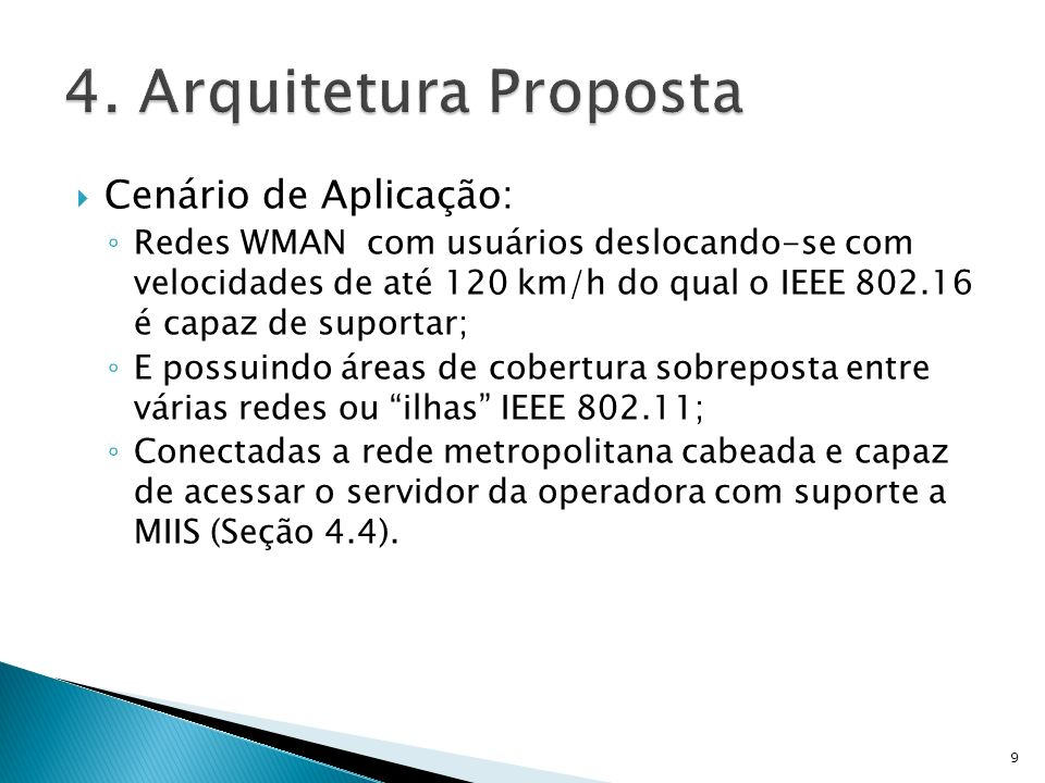 4. Arquitetura Proposta Cenário de Aplicação: