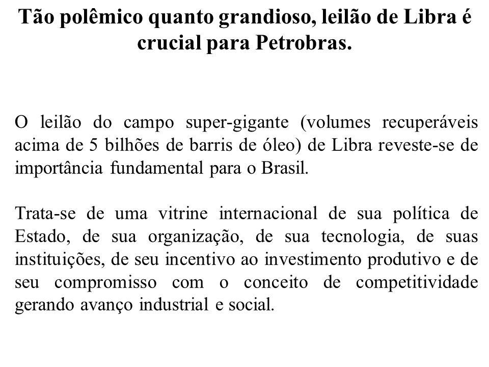 Tão polêmico quanto grandioso, leilão de Libra é crucial para Petrobras.