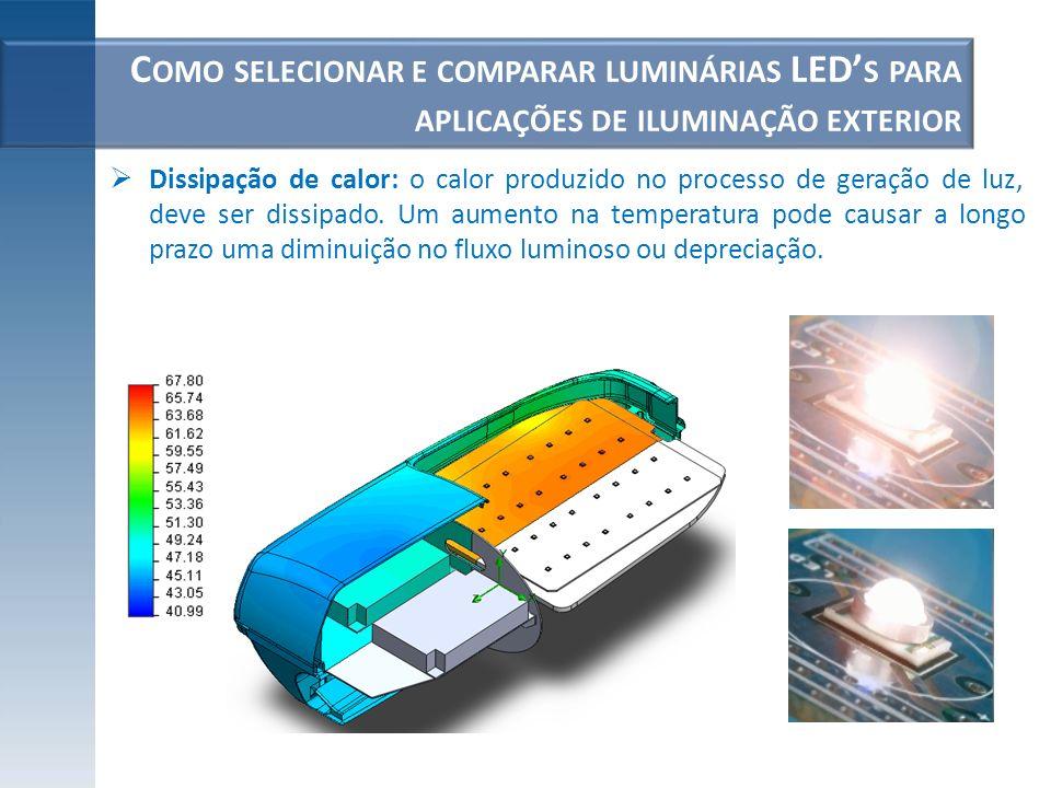 Como selecionar e comparar luminárias LED's para aplicações de iluminação exterior