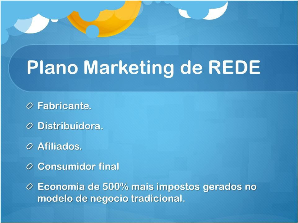 Plano Marketing de REDE