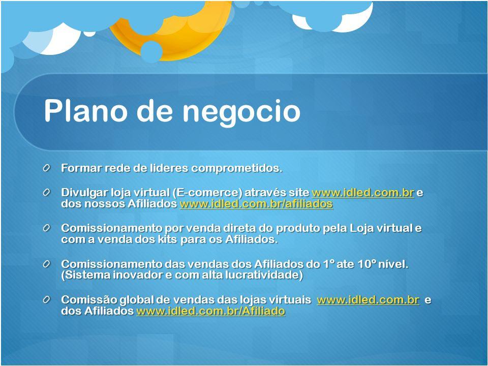 Plano de negocio Formar rede de lideres comprometidos.