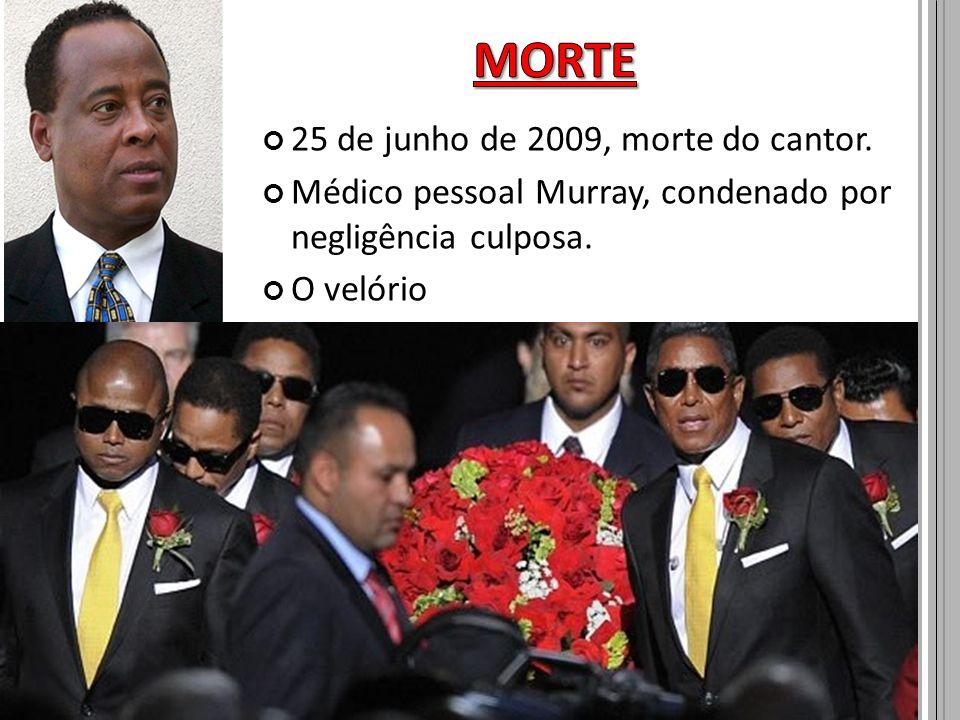 MORTE 25 de junho de 2009, morte do cantor.