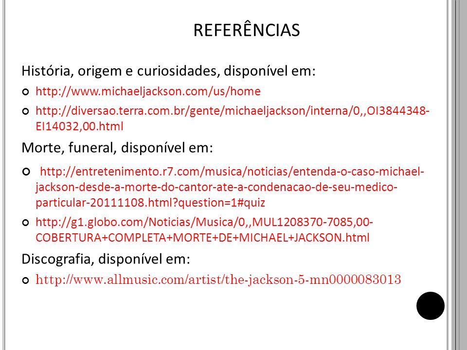 REFERÊNCIAS História, origem e curiosidades, disponível em: