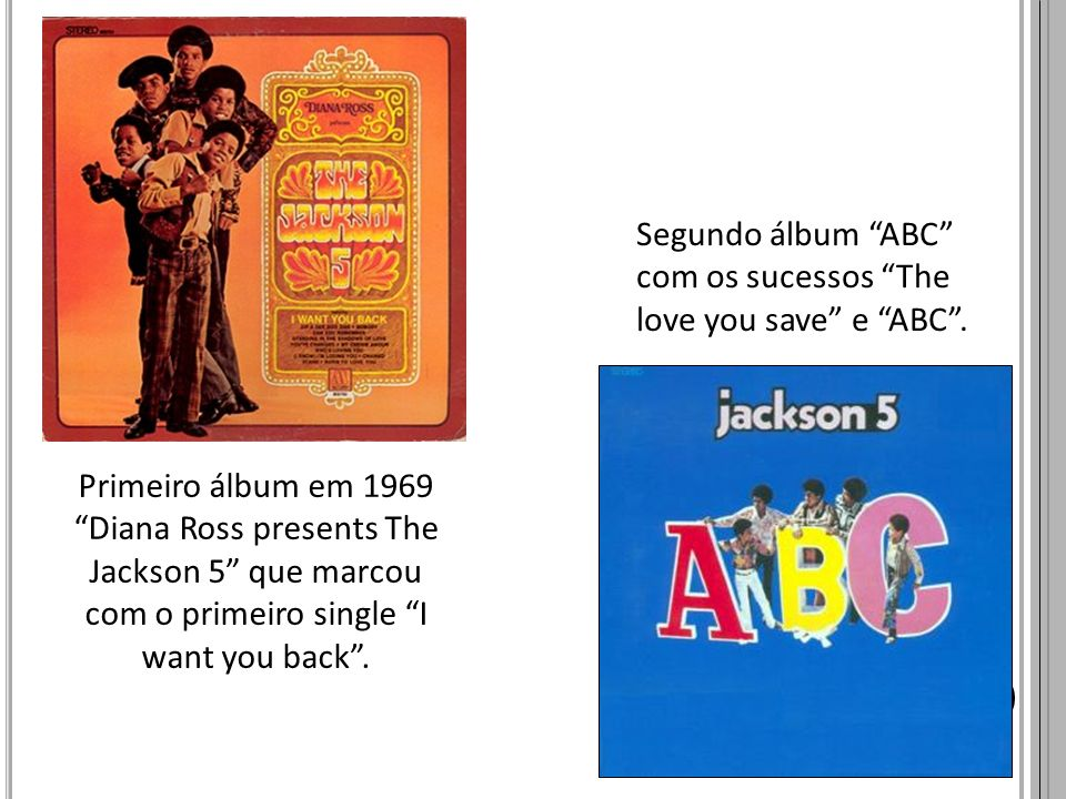 Segundo álbum ABC com os sucessos The love you save e ABC .