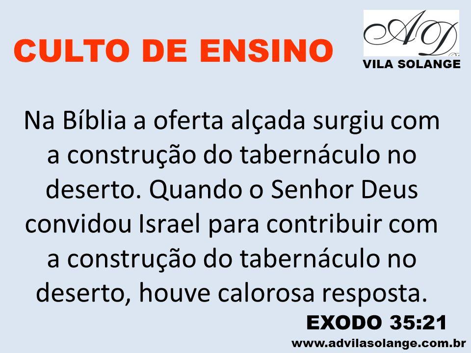 CULTO DE ENSINO VILA SOLANGE.