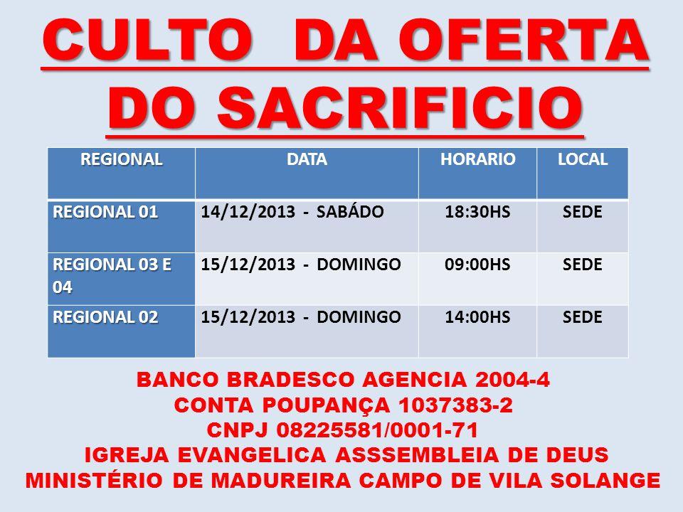 CULTO DA OFERTA DO SACRIFICIO