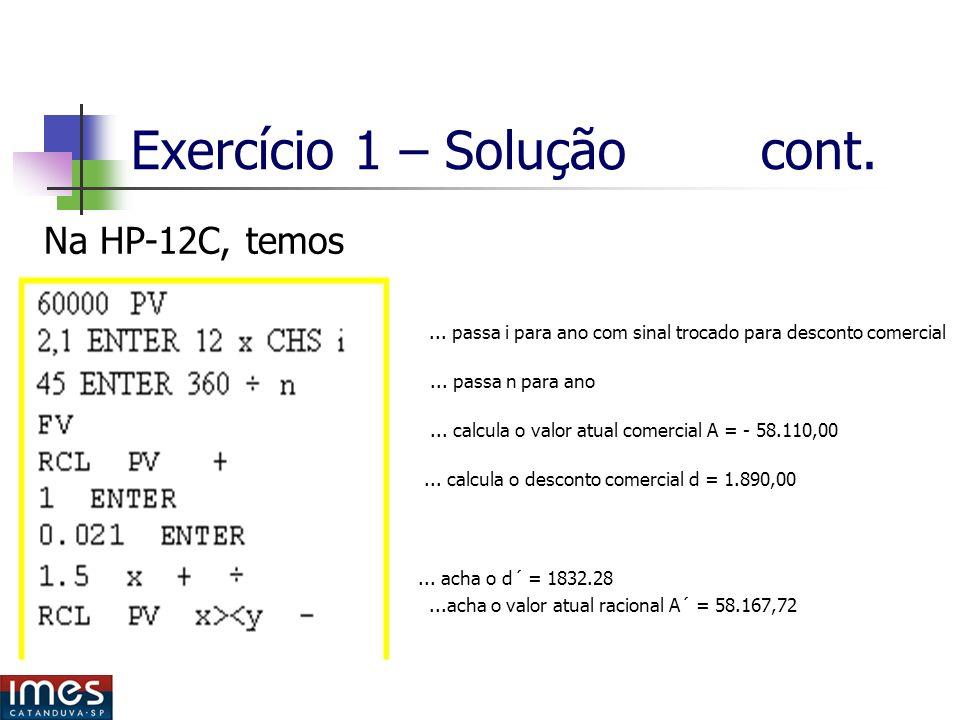 Exercício 1 – Solução cont.