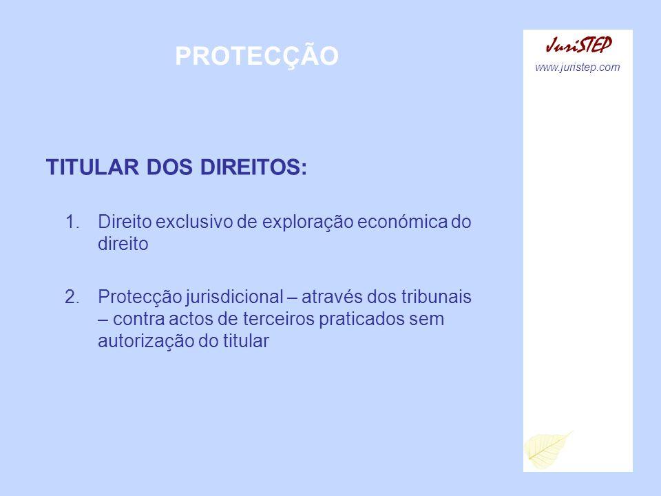 PROTECÇÃO JuriSTEP TITULAR DOS DIREITOS: