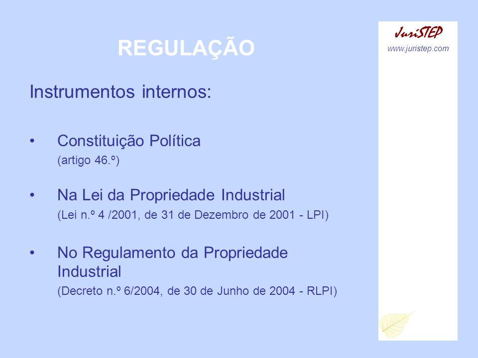 REGULAÇÃO Instrumentos internos: JuriSTEP Constituição Política