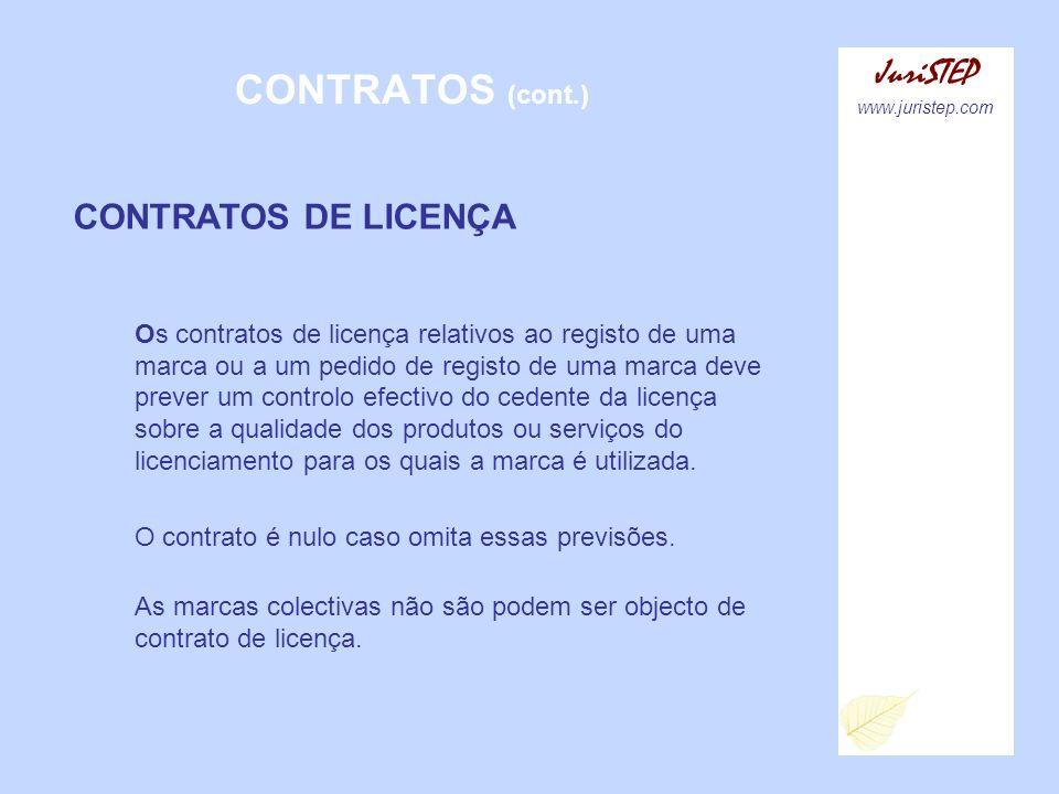 CONTRATOS (cont.) JuriSTEP CONTRATOS DE LICENÇA