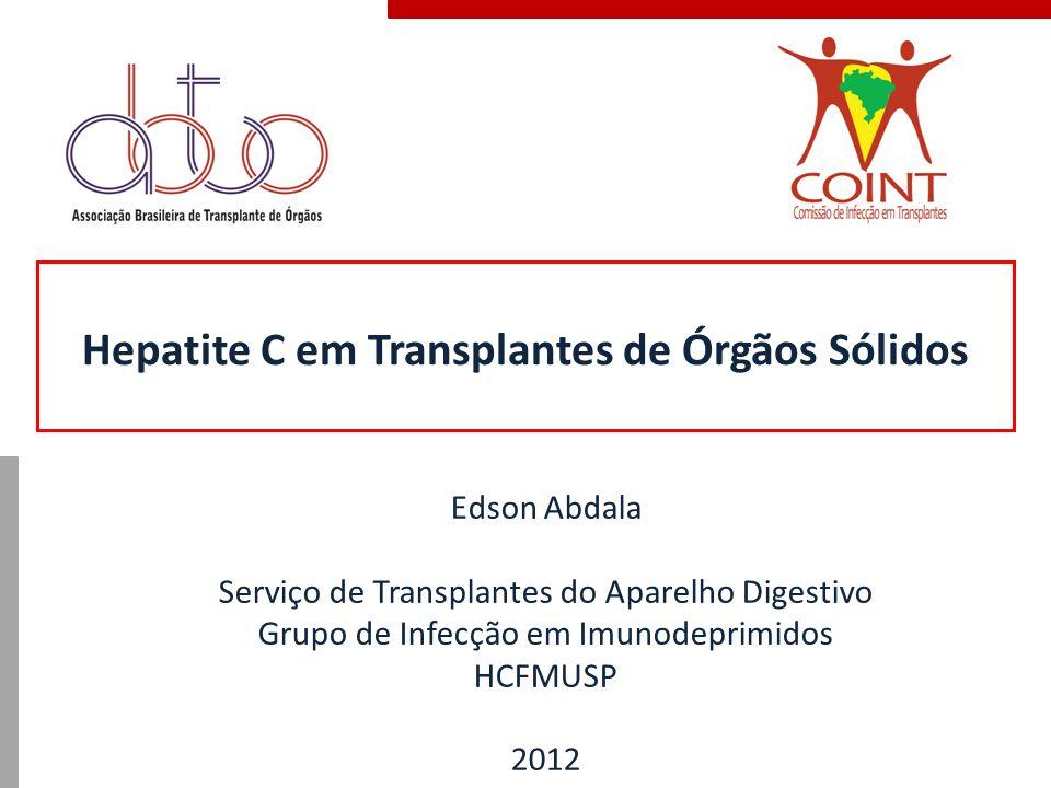 Hepatite C em Transplantes de Órgãos Sólidos