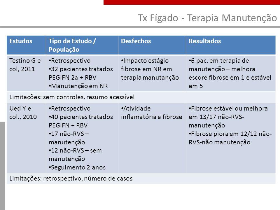 Tx Fígado - Terapia Manutenção