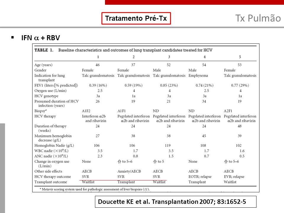 Tx Pulmão IFN  + RBV Tratamento Pré-Tx