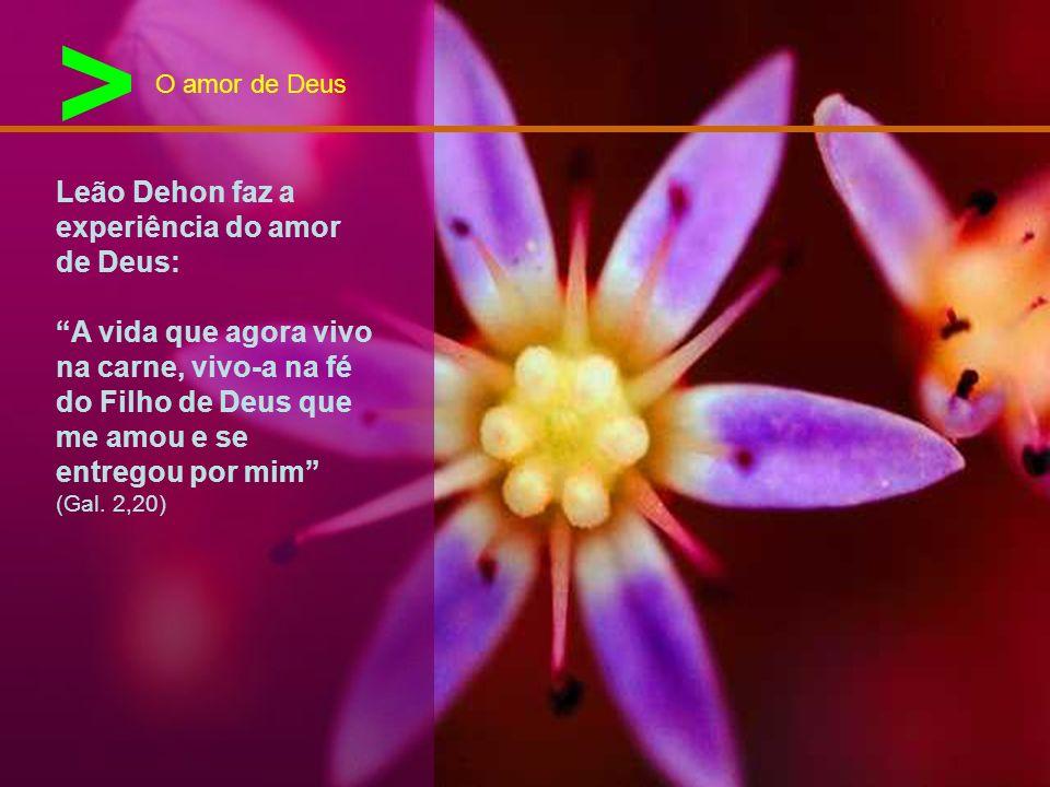> Leão Dehon faz a experiência do amor de Deus: