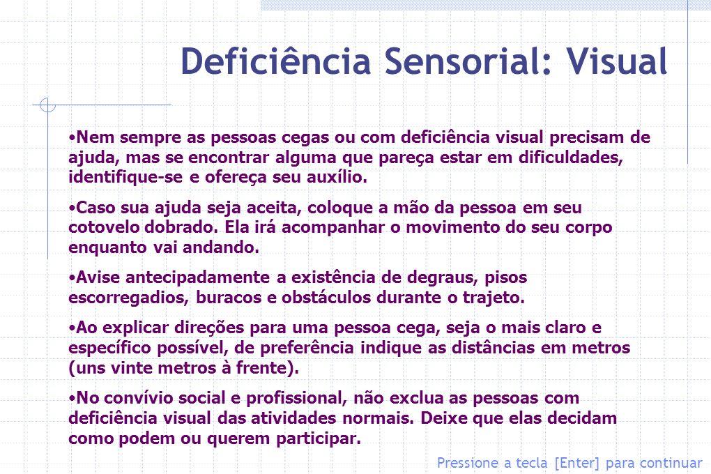 Deficiência Sensorial: Visual