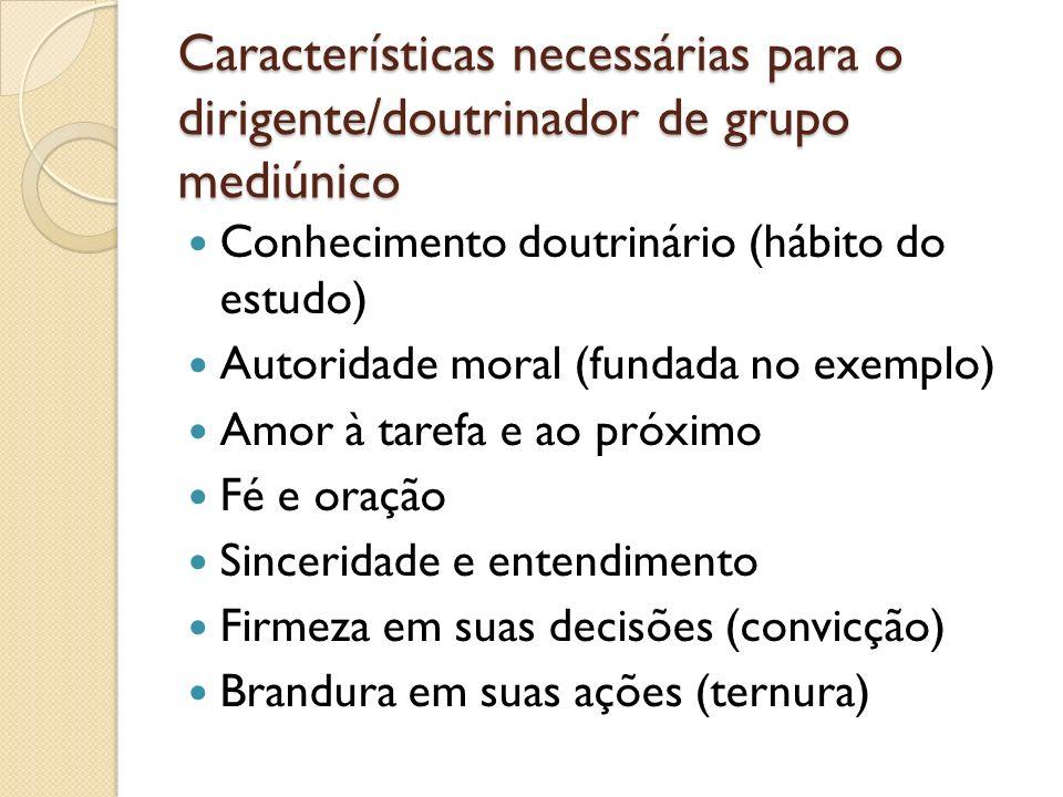 Características necessárias para o dirigente/doutrinador de grupo mediúnico