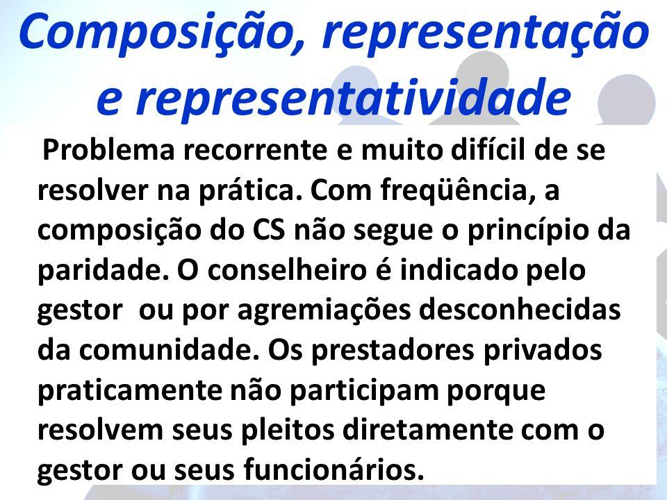 Composição, representação e representatividade