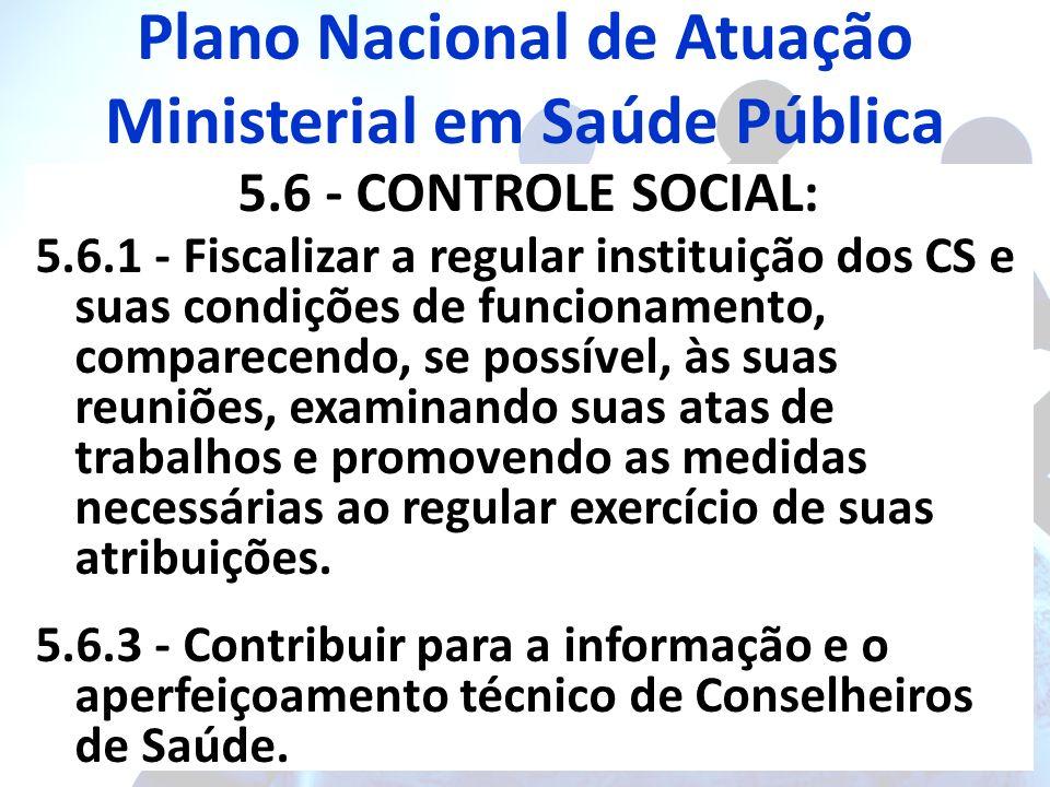 Plano Nacional de Atuação Ministerial em Saúde Pública
