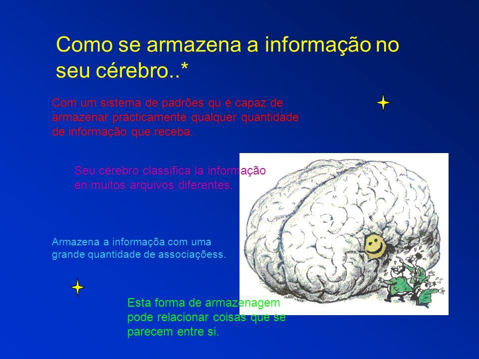 Como se armazena a informação no seu cérebro..*