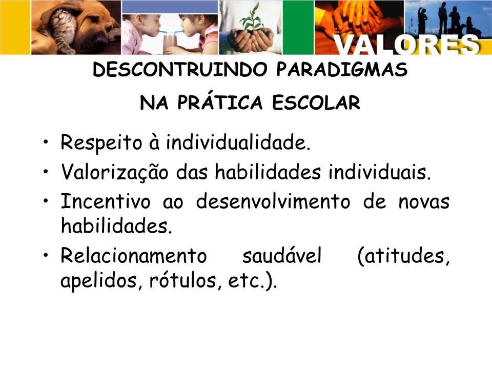 DESCONTRUINDO PARADIGMAS NA PRÁTICA ESCOLAR