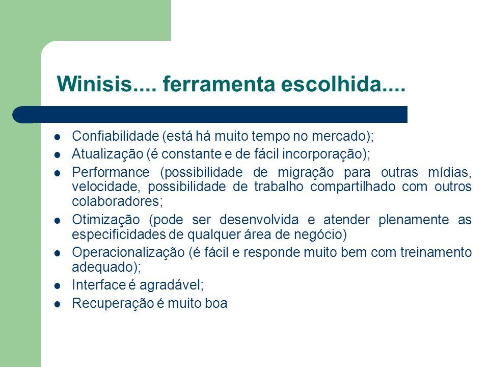 Winisis.... ferramenta escolhida....