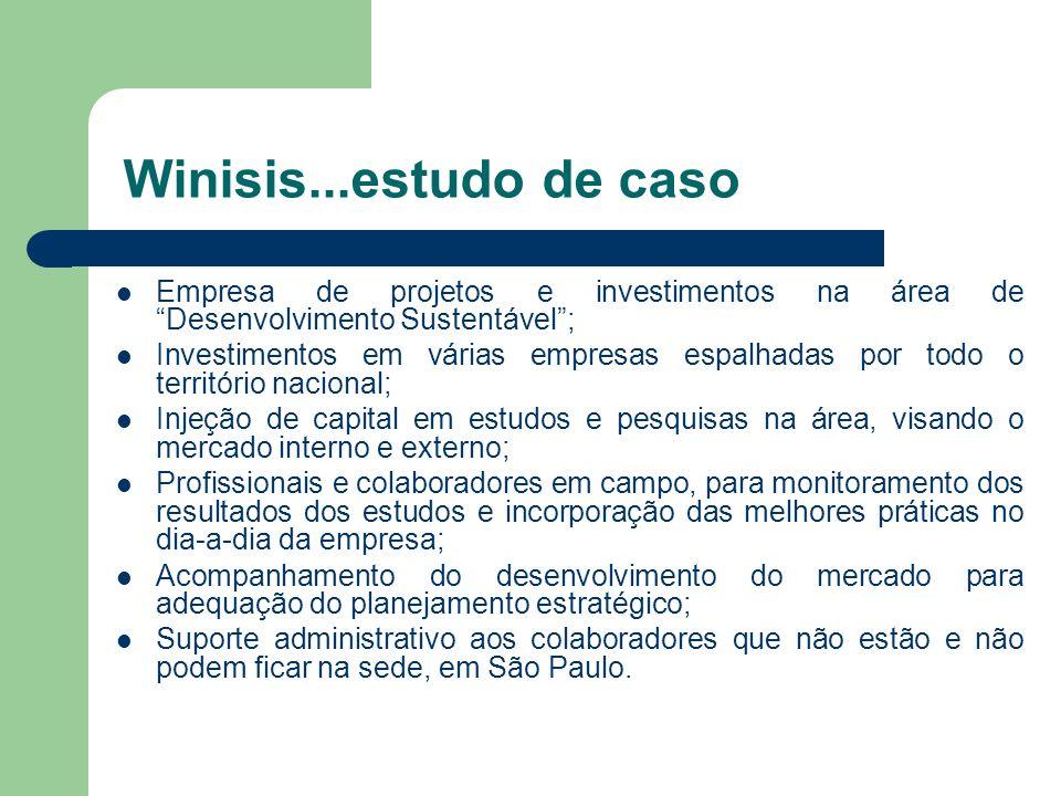Winisis...estudo de caso Empresa de projetos e investimentos na área de Desenvolvimento Sustentável ;