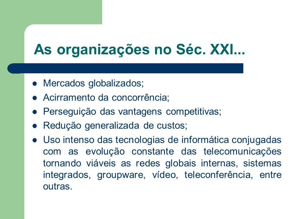 As organizações no Séc. XXI...