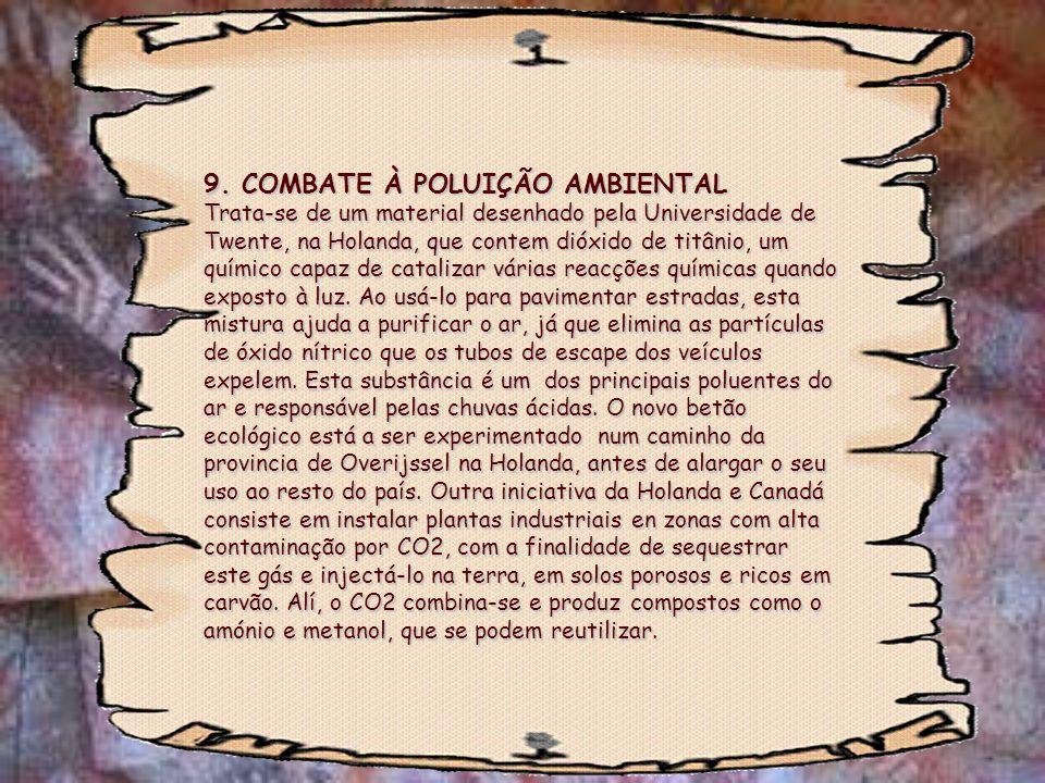 9. COMBATE À POLUIÇÃO AMBIENTAL