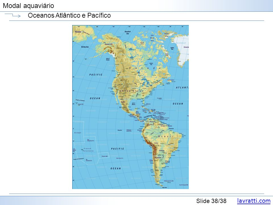 Oceanos Atlântico e Pacífico