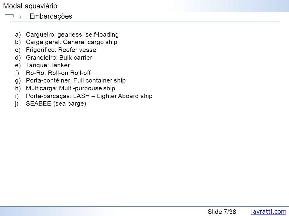 Embarcações Cargueiro: gearless, self-loading