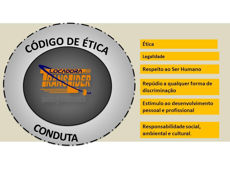 CÓDIGO DE ÉTICA CONDUTA Ética Respeito ao Ser Humano