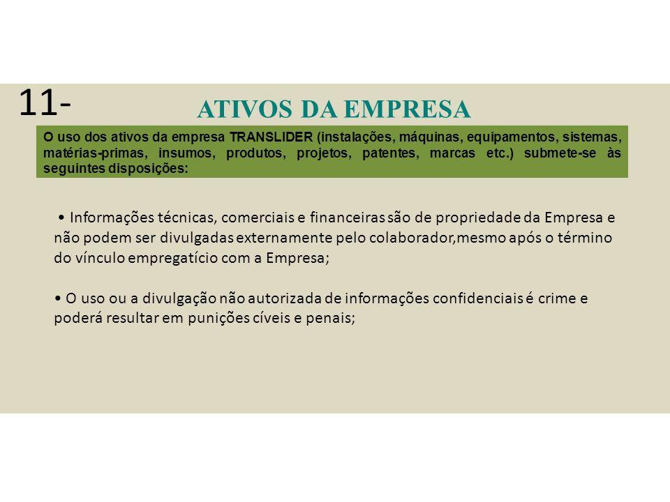 11- ATIVOS DA EMPRESA.