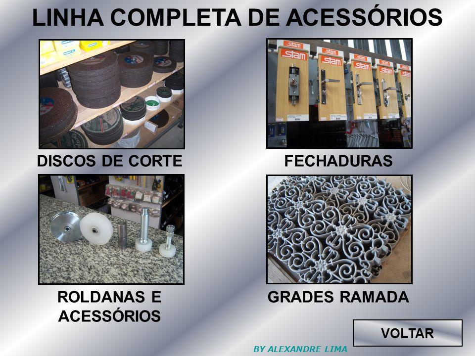 LINHA COMPLETA DE ACESSÓRIOS